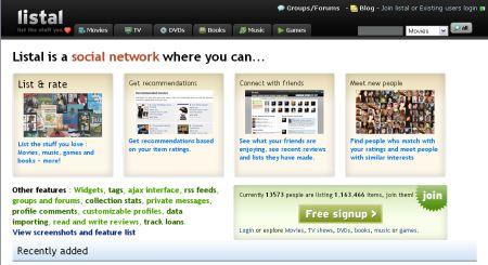 Listal.com - udělejte si pořádek ve věcech (web2.0)